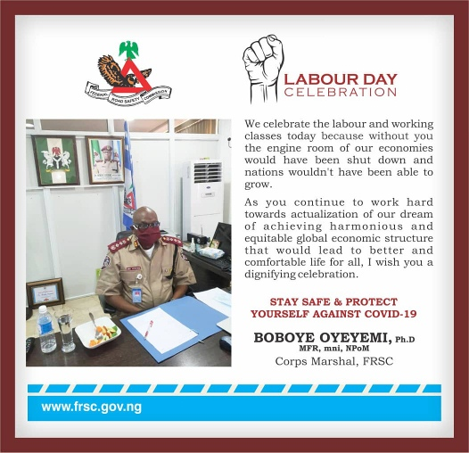 FRSC Labor Day Message