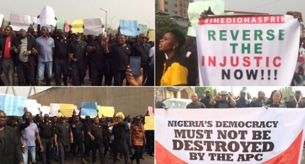 Imo: PDP Members Protest Across Nigeria •	Want 'Injustice' Reversed